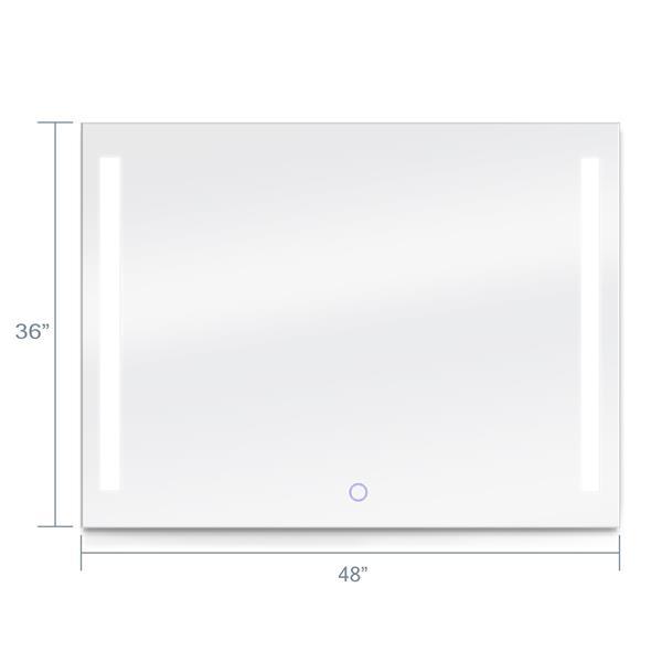 Dyconn Faucet Catella Rectangular Led Bathroom Mirror 48 X 36 M09at4836w Rona