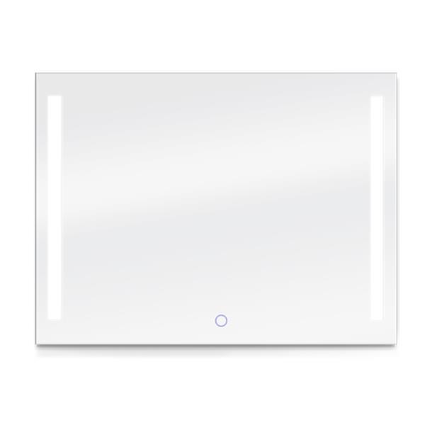 """Miroir rectangulaire avec éclairage à DEL Catella, 48"""" x 36"""""""