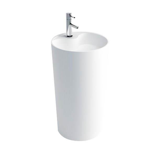 Dyconn Faucet Stone Resin Pedestal Sink - White