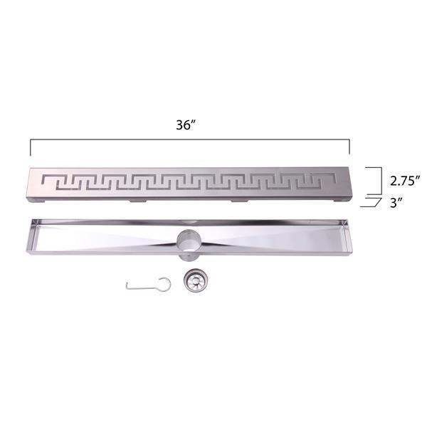 """BOANN Linear Shower Drain - 36"""" - Stainless Steel"""