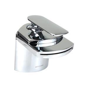 """Dyconn Faucet Crystal Waterfall Bathroom Faucet - 4.5"""" - Chrome"""