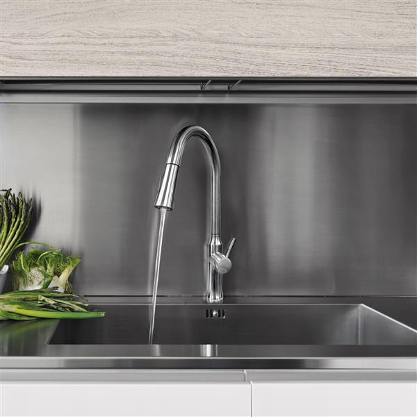 """BOANN Esther Kitchen Faucet - 18.9"""" - Stainless Steel"""