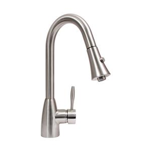 "Dyconn Faucet Gila Kitchen Faucet - 16"" - Brushed Nickel"