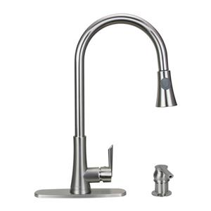"Dyconn Faucet Celtic Kitchen Faucet - 18"" - Brushed Nickel"