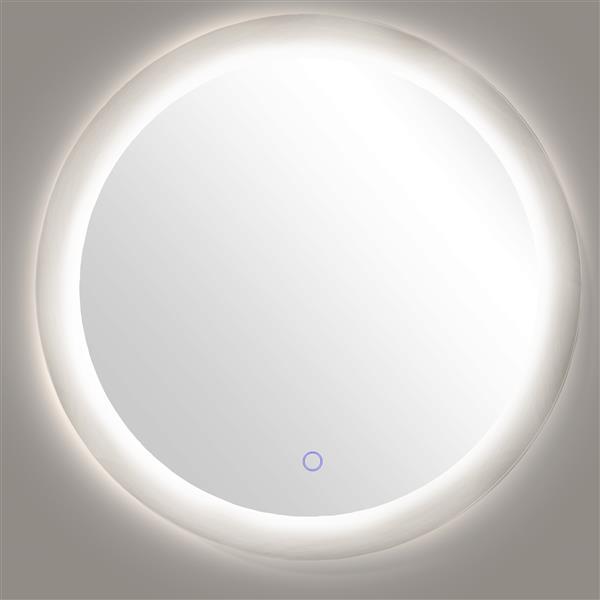 Dyconn Faucet Royal Circle LED Wall Mounted Backlit Vanity Bathroom Mirror
