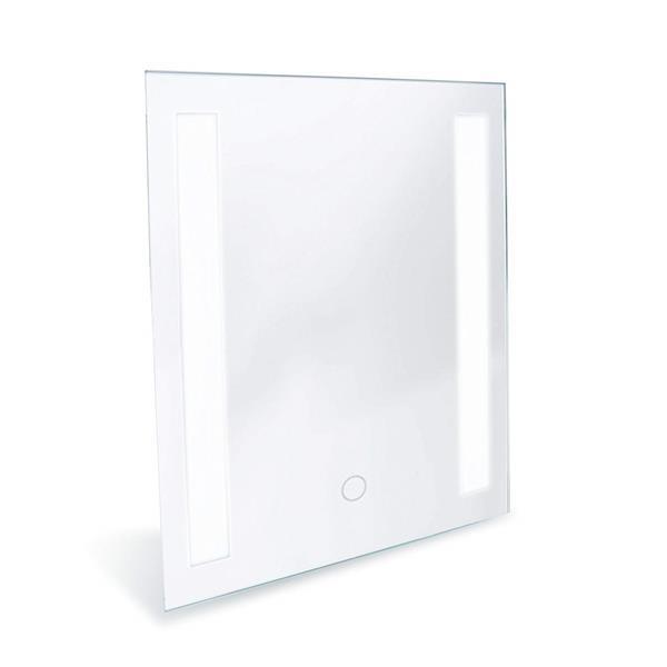 Miroir de salle de bain avec éclairage à DEL «Mural Catella»
