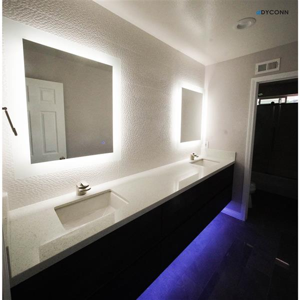Dyconn Faucet Royal Led Wall Mounted Backlit Vanity Bathroom Mirror M12at3036w Rona