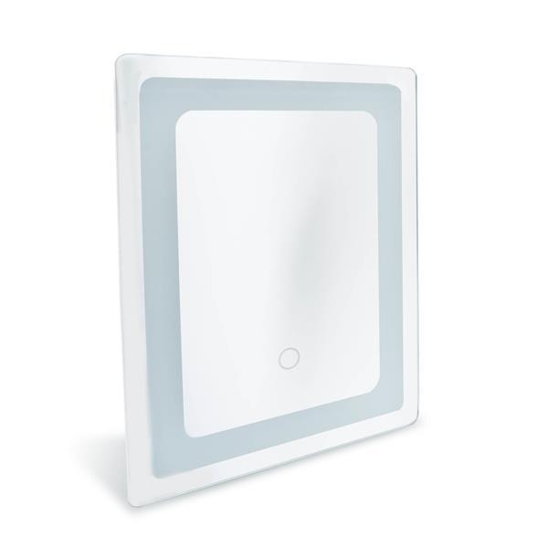 Miroir de salle de bain avec éclairage à DEL «Mural Swan»