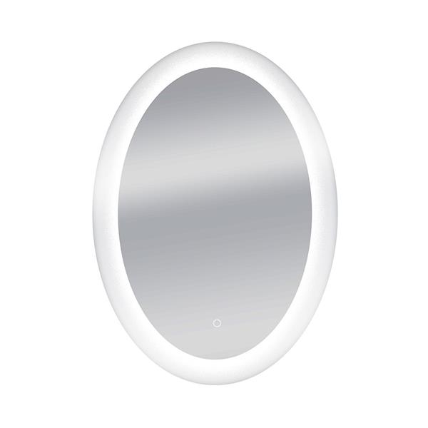 Dyconn Faucet Royal Oval LED Wall Mounted Backlit Vanity Bathroom Mirror