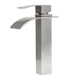 Robinet de salle de bain moderne «Wye», nickel brossé