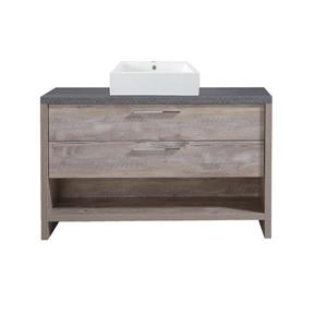 Luxo Marbre Countryside Vanity - 2 Drawers - 48-in- Veneer Wood  - Natural.