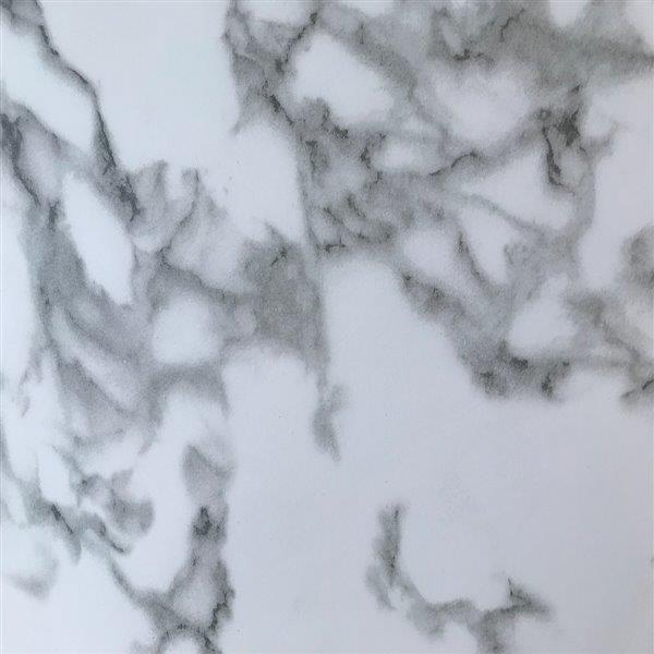 Luxo Marbre Single Sink Vanity Top - 37-in x 22-in - Quartz - Veined White.