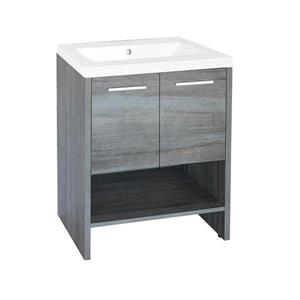 Luxo Marbre Relax Single Sink Vanity - 2 Doors -  24.25-in - Blue Gray.