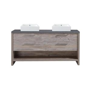 Luxo Marbre Countryside Vanity - 4 Drawers - 60-in - Veneer Wood - Natural.