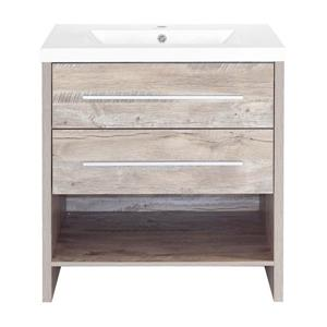 Luxo Marbre Relax Vanity - 2 Drawers -  30.25-in - Faux Natural Wood
