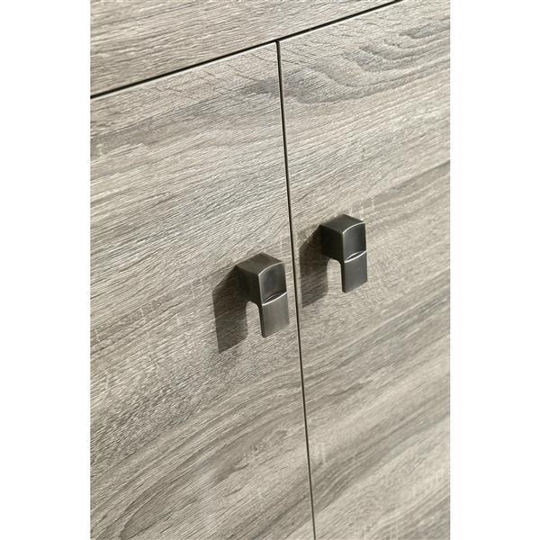 Luxo Marbre Eco Vanity - 2 Doors - 4 Drawers - 49-in - Wood Veneer - Brown.