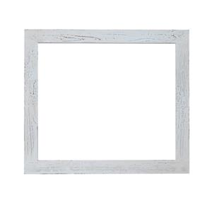 Luxo Marbre Artisan Mirror - 29.5-in x 35.5-in - Recycled Fir - White/Gray