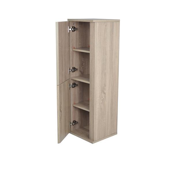 Lukx Modo David Linen Cabinet - Left Opening - 14-in - Urban Beige