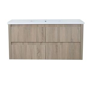 "Meuble-lavabo simple mural Modo David, 48"", beige urbain"