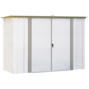 Arrow Garden Shed with Pent Roof - 8' x 3' - Off-White