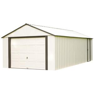 Arrow Murryhill® Steel Storage Shed - 12' x 24' - Off-White