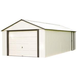 Arrow Murryhill® Steel Storage Shed - 14' x 21' - Off-White