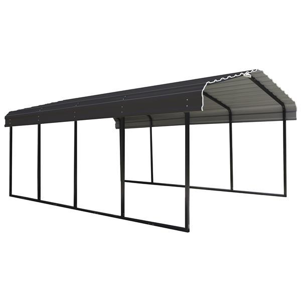 Arrow Steel Carport 12 X 20 X 7 Black Charcoal Cphc122007 Rona