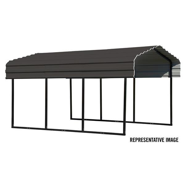 Arrow Steel Carport 10 X 24 X 7 Black Charcoal Cphc102407 Rona