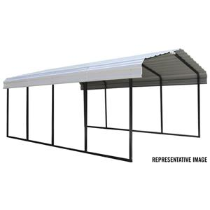 Arrow Steel Carport - 12' x 29' x 7' - Black/Eggshell