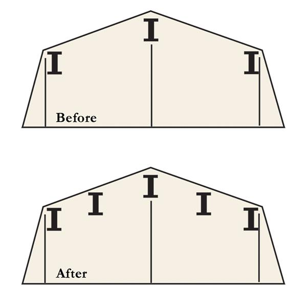 Arrow Roof Strengthening Kit for 6' x 5' and 8' x 6'