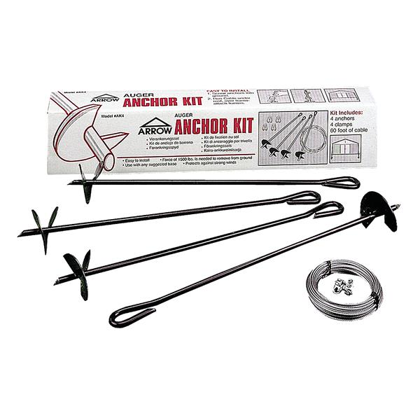 Arrow Earth Anchor (Auger and Cable) - Grey