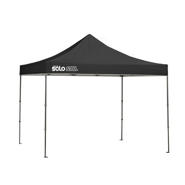 Quik Shade Solo Steel® Straight Leg Canopy - 10' x 10' - Black
