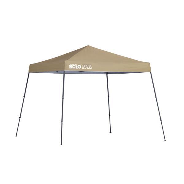 Quik Shade Solo Steel® Slant Leg Canopy - 10' x 10' - Khaki
