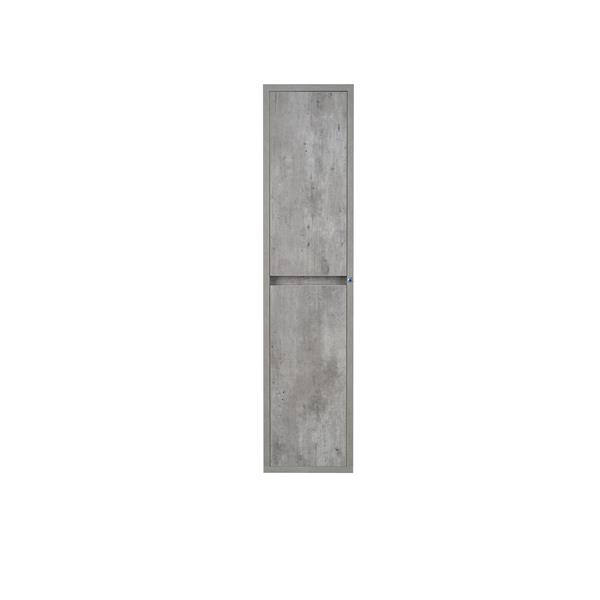 Lukx Modo Casey Wall Mount Linen Cabinet with LED Lights - Stone
