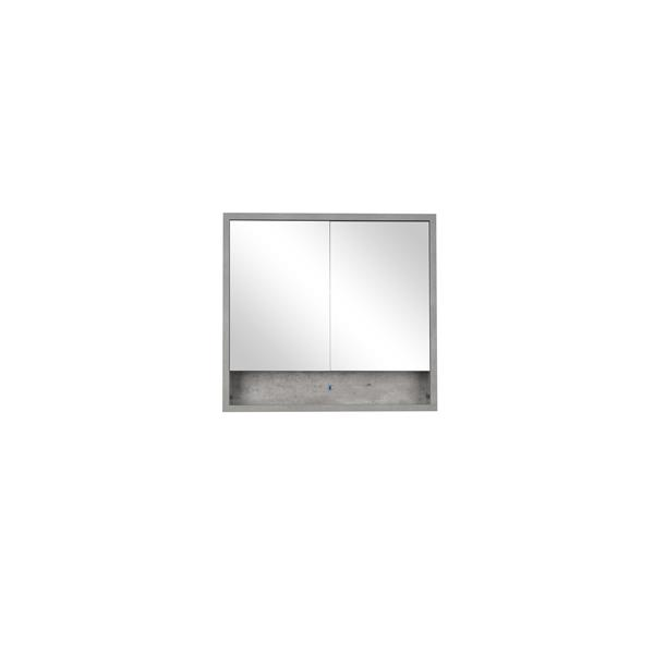 Lukx Modo Casey Medicine Cabinet with LED Light - 32-in - Stone