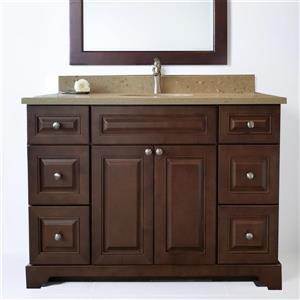 "Base de meuble-lavabo «Bold Damian»,  48"", bois royal"