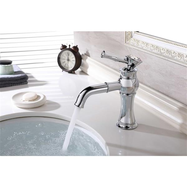 Lukx Splash Zuzia Single-Handle Bathroom Faucet - Chrome