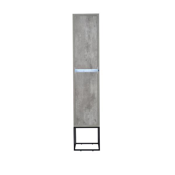 Lukx Modo Casey Linen Cabinet with LED Lighting - 14-in - Black