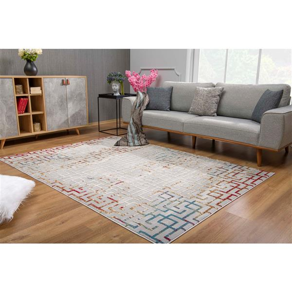 Rug Branch  Vogue Modern Rug - 9-ft 2-in x 12-ft 6-in - Multicolored