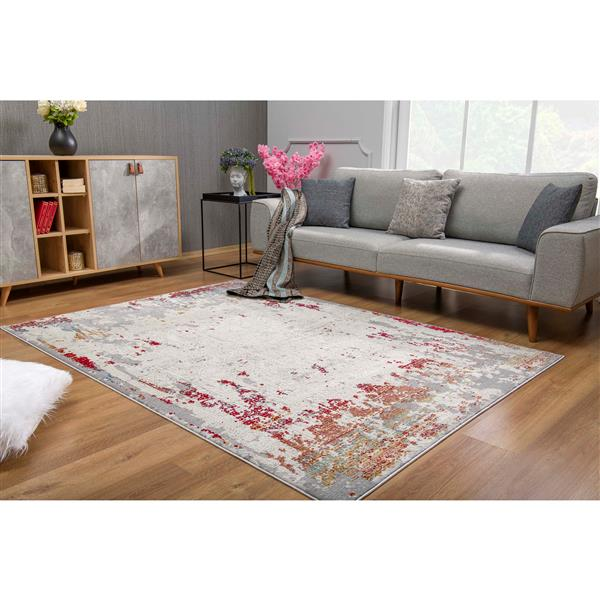 Rug Branch  Vogue Modern Area Rug- 5-ft 3-in x 7-ft 7-in - Multicolored