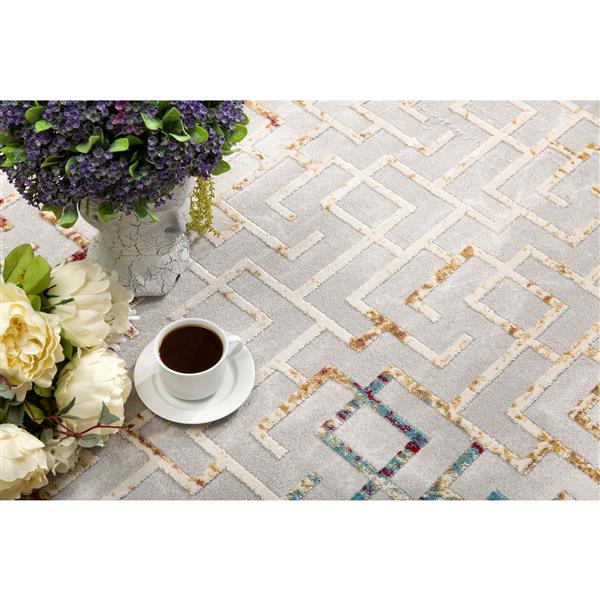 Rug Branch  Vogue Modern Area Rug - 3-ft 9-in x 5-ft 6-in - Multicolored