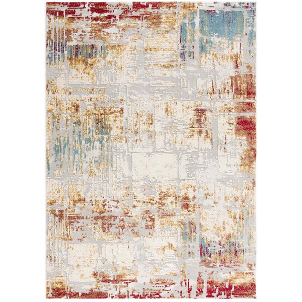 Rug Branch  Vogue Modern Area Rug - 6-ft 6-in x 9-ft 6-in - Multicolored