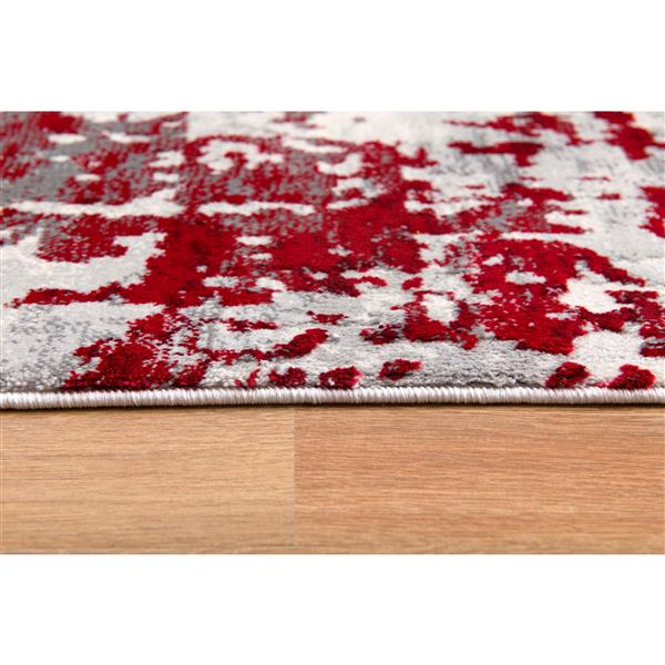 Rug Branch  Vogue Modern Area Rug - 3-ft 9-in x 5-ft 6-in - Red