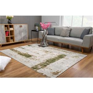 Rug Branch  Vogue Modern Area Rug - 3-ft 9-in x 5-ft 6-in - Green