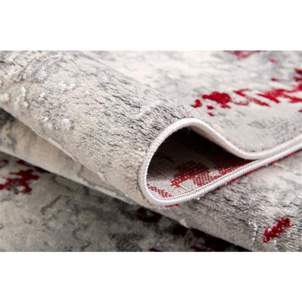 Rug Branch  Vogue Modern Area Rug - 5-ft 3-in x 7-ft 7-in - Red
