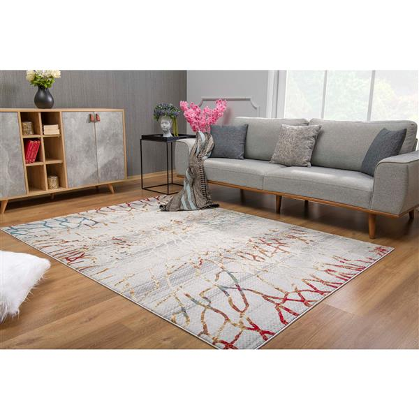 Rug Branch  Vogue Modern Area Rug - 5-ft 3-in x 7-ft 7-in - Multicolored