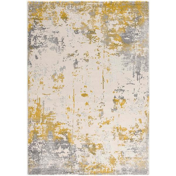 Rug Branch  Vogue Red Modern Area Rug - 9-ft 2-in x 12-ft 6-in - Gold