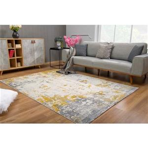 Rug Branch  Vogue Modern Area Rug - 3-ft 9-in x 5-ft 6-in  - Gold