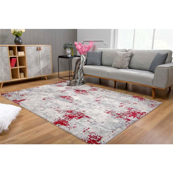 Rug Branch  Vogue Modern Area Rug - 2-ft 8-in x 4-ft 8-in - Red