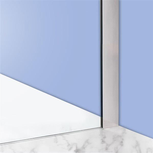 Turin Horizon Shower Door (10 mm) 48-in - Nickel